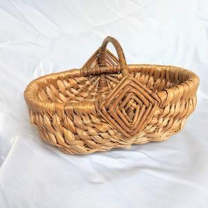 Vintage Handwoven Wicker Basket